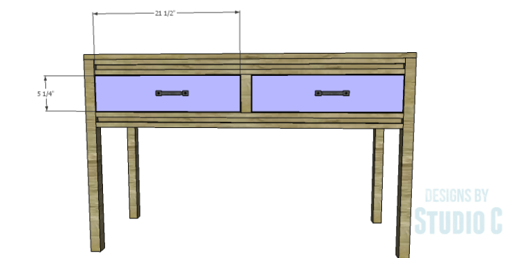 DIY Plans to Build a Holly Console Table_Drawer Fronts