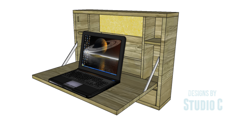 DIY Plans to Build a Laptop Wall Desk_Copy 2