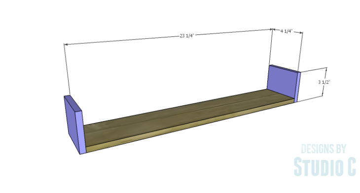 DIY Plans to Build a Laptop Wall Desk_Drawer BS
