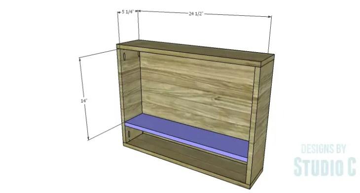 DIY Plans to Build a Laptop Wall Desk_Drawer Shelf
