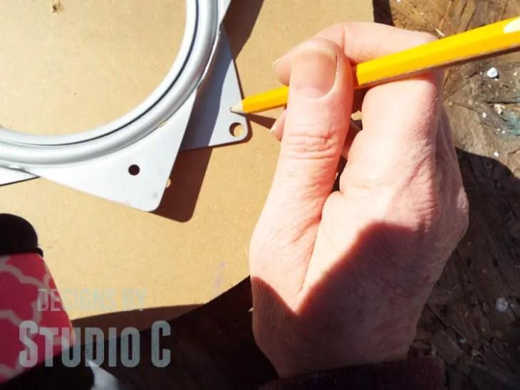 How to Install Lazy Susan Hardware_Mark Holes