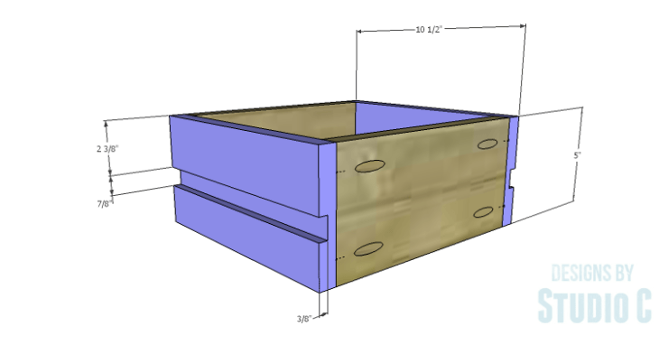 DIY Plans to Build a Nell End Table_Drawer Sides