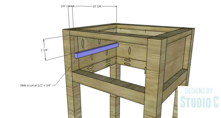 DIY Plans to Build a Nell End Table_Drawer Slide