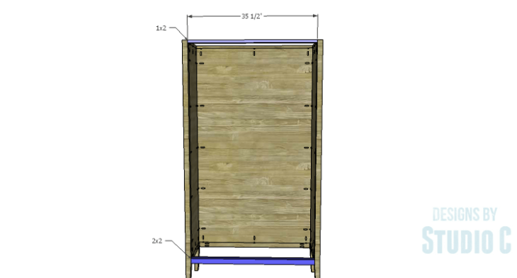 DIY Plans to Build a Scoville Pantry_Front Stretchers