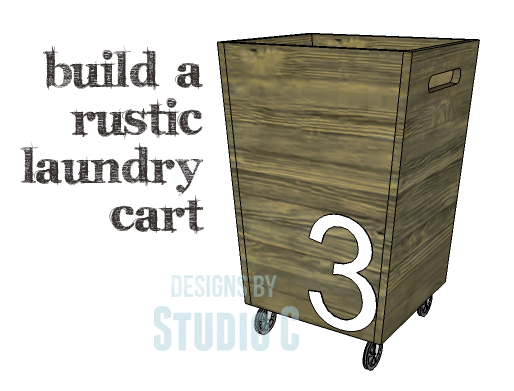 DIY Plans to Build a Rustic Laundry Cart_Copy