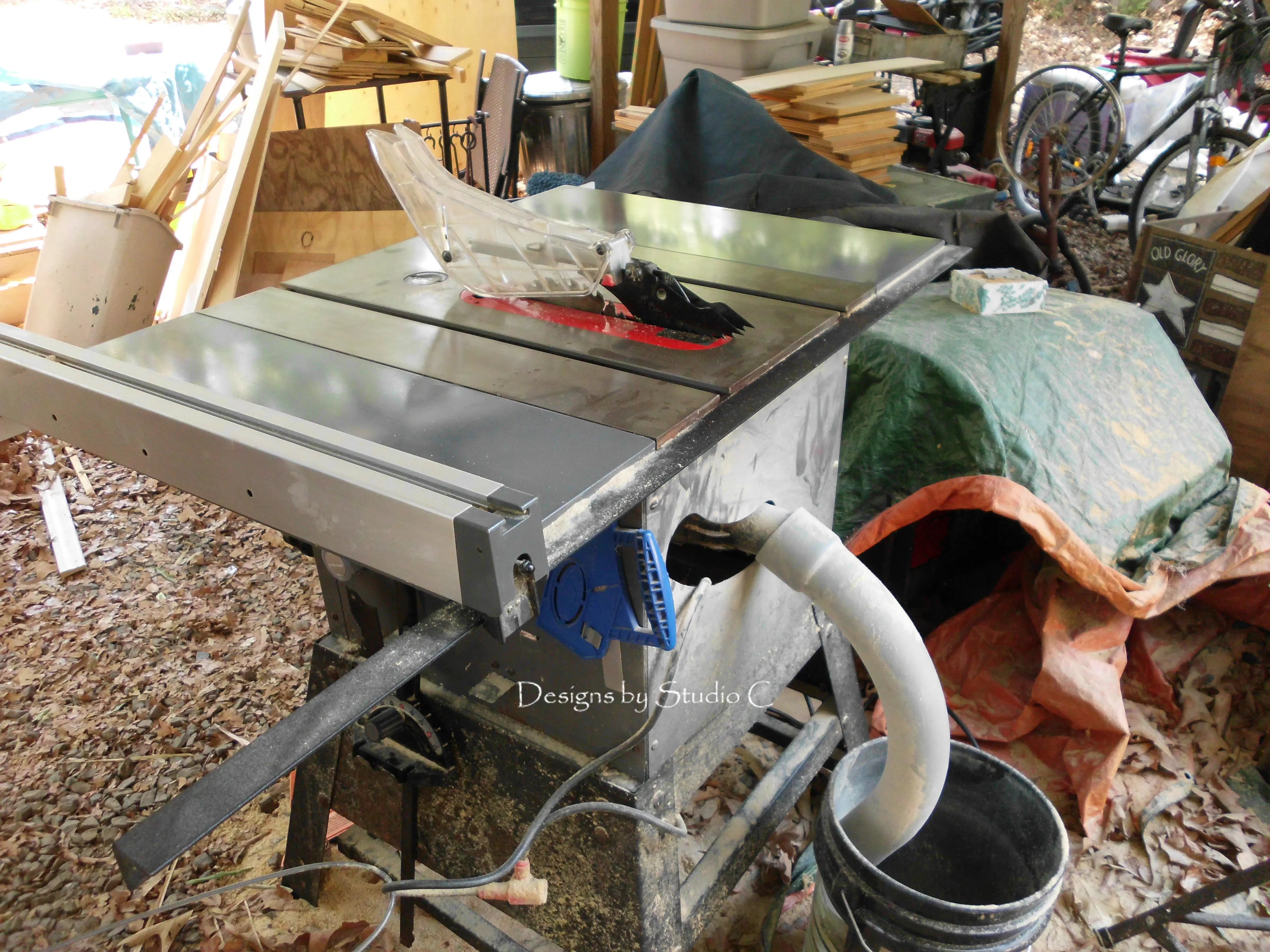 Time For Dust Collection On The Table Saw Designs By Studio C