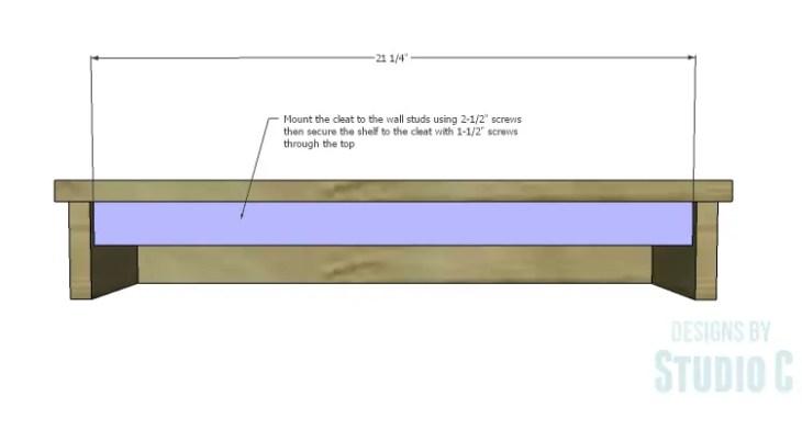 DIY Plans to Build a Square Ledge Shelf_Cleat