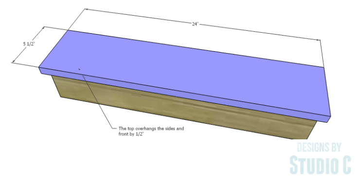 DIY Plans to Build a Square Ledge Shelf_Top