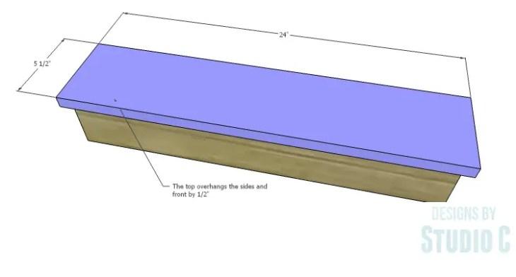 DIY Plans to Build a Square Ledge Shelf_Top