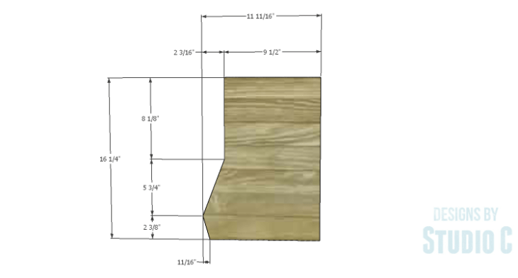DIY Plans to Build an Atlantic Wall Shelf_Sides