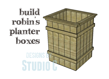 Collection of DIY Plans to Build Planter Boxes_Robin's Planters