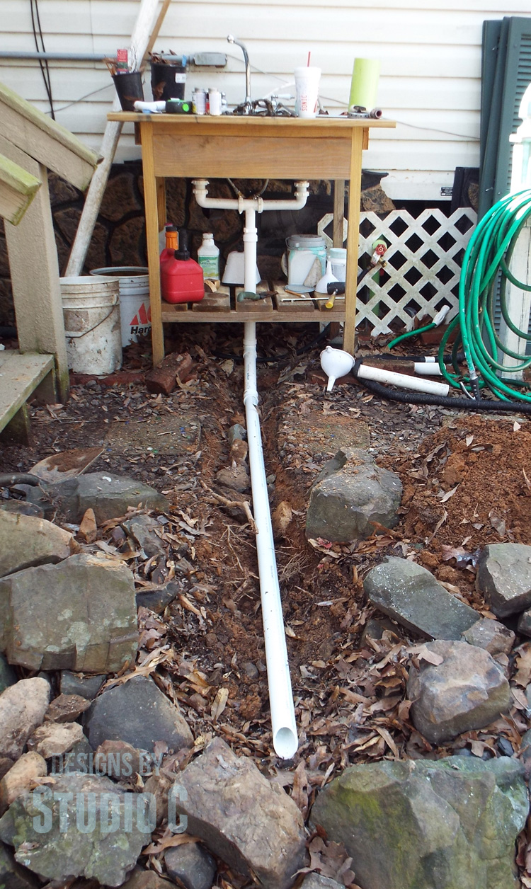 Install a Drain on an Outdoor Sink on Outdoor Patio Sink id=32269