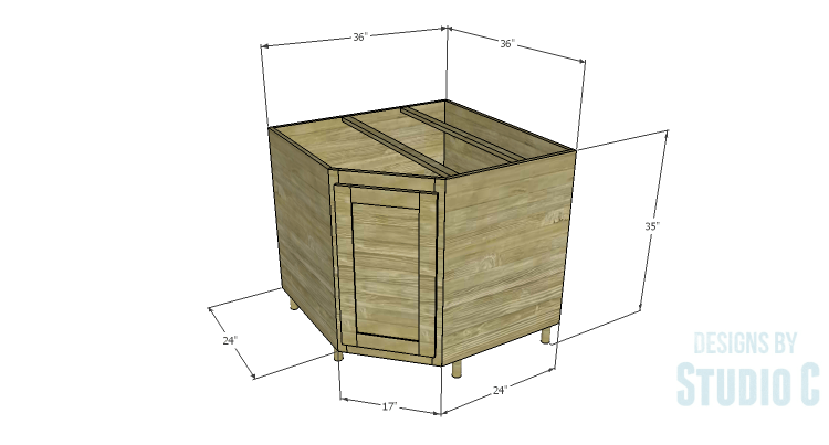 Gentil DIY Plans To Build A Diagonal Corner Base Kitchen Cabinet