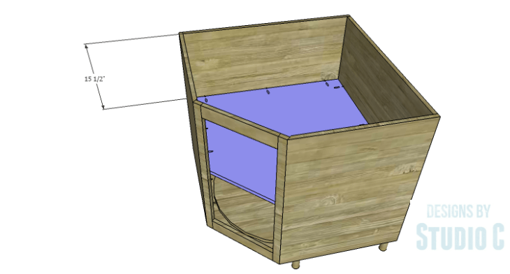 DIY Plans to Build a Diagonal Corner Base Kitchen Cabinet_Shelf 2