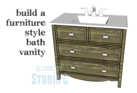 Bathroom Vanity Plans Free a bath vanity with lots of style plus storage – designsstudio c