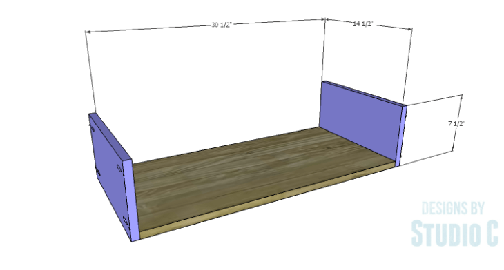 DIY Plans to Build a Furniture Style Bath Vanity_Drawer BS