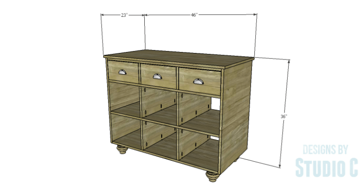 DIY Plans to Build an Eckhart Kitchen Island