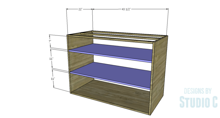 DIY Plans to Build an Eckhart Kitchen Island_Shelves