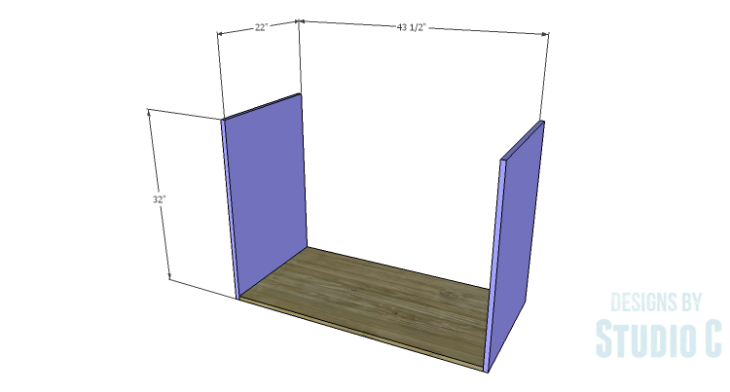 DIY Plans to Build an Eckhart Kitchen Island_Sides & Bottom