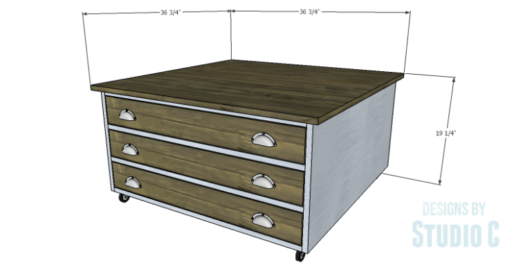 DIY Plans to Build a Monette Coffee Table