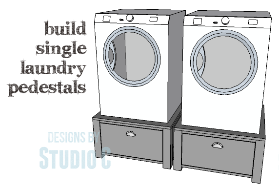 Easy To Build Single Laundry Pedestals