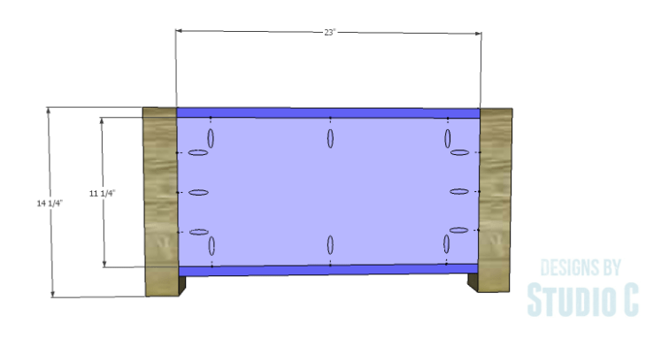 DIY Plans to Build Single Washer and Dryer Pedestals_Sides