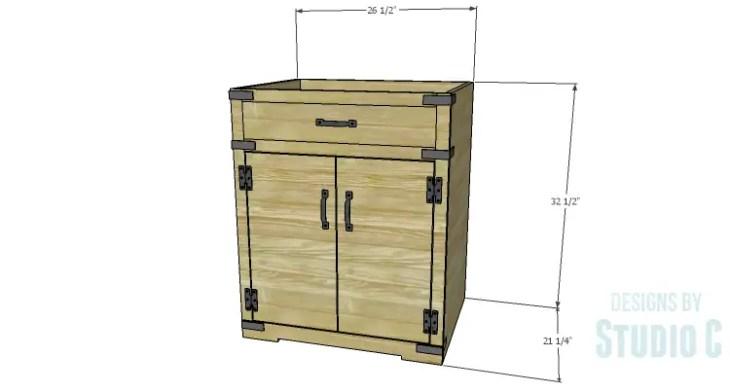 DIY Plans to Build a Trunk Style Bath Vanity