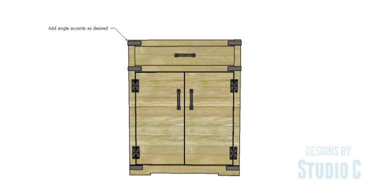 DIY Plans to Build a Trunk Style Bath Vanity_Angle Accents