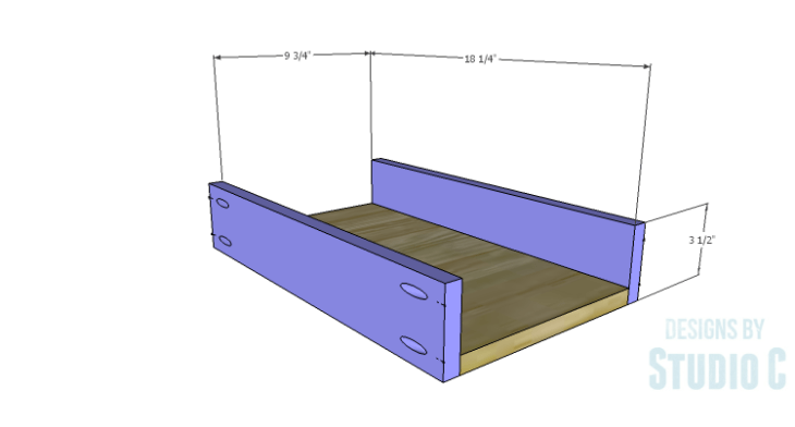DIY Plans to Build a Trunk Style Bath Vanity_Drawer BS
