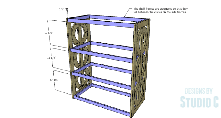 DIY Plans to Build a Circle Bookcase_Shelf Frames 2