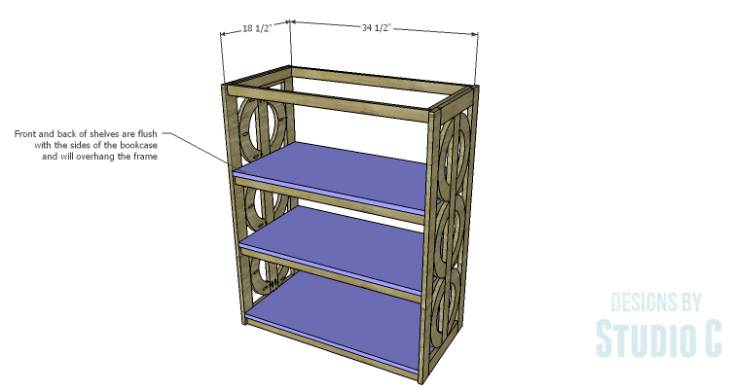 DIY Plans to Build a Circle Bookcase_Shelves