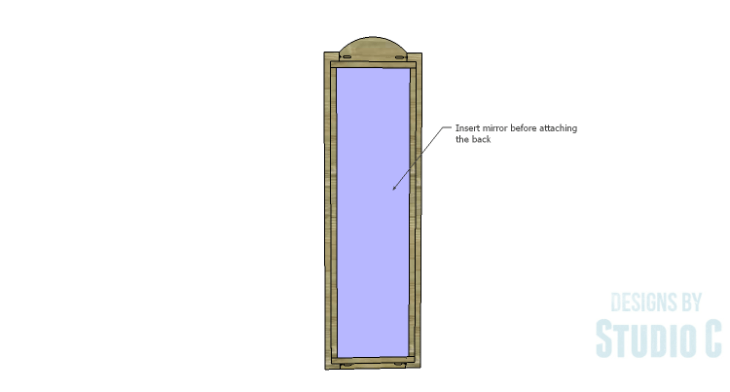 DIY Plans to Build a Dorm Mirror Frame_Mirror