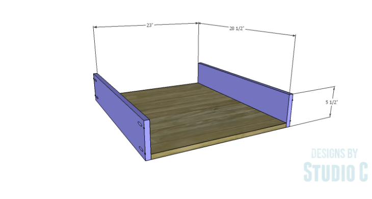 DIY Plans to Build a Rustic Metal Strap Queen Bed_Drawer BS