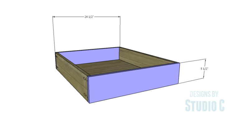 DIY Plans to Build a Rustic Metal Strap Queen Bed_Drawer FB