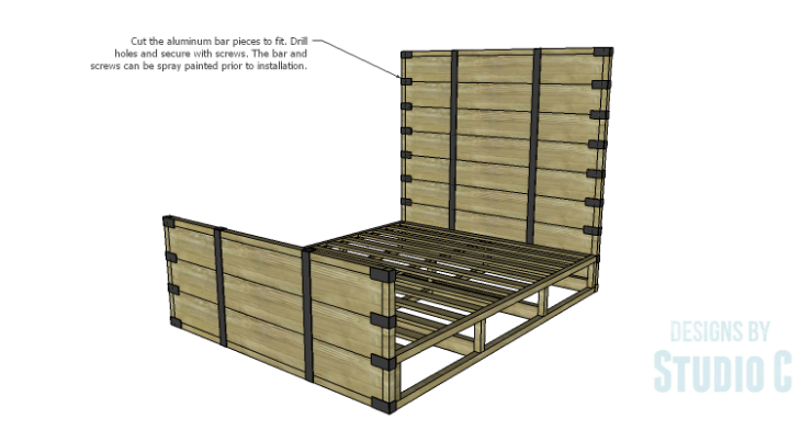 DIY Plans to Build a Rustic Metal Strap Queen Bed_Straps