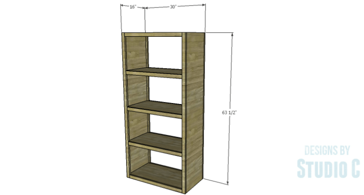 DIY Plans to Build a Parson Bookcase