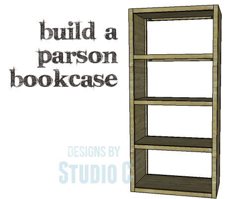 DIY Plans to Build a Parson Bookcase_Copy - A Simple Bookcase To Build With An Open Design – Designs By Studio C