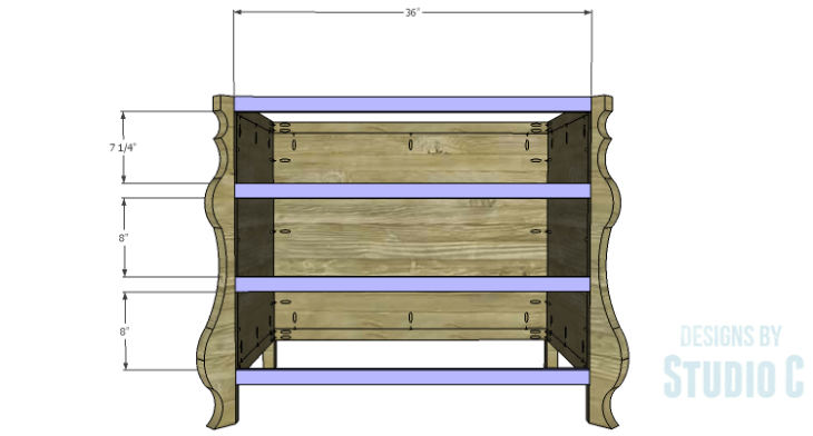 DIY Plans to Build a Raphael Dresser_Front Stretchers