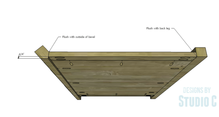 DIY Plans to Build a Raphael Dresser_Side Top View