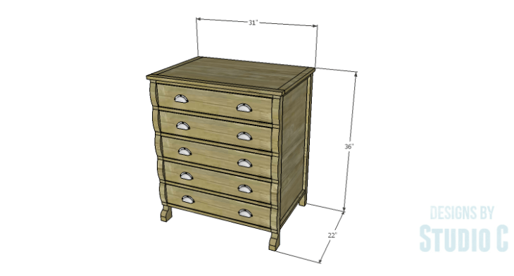 DIY Plans to Build a Scalloped Leg Dresser