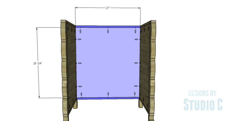 DIY Plans to Build a Scalloped Leg Dresser_Back Panel & Stretchers