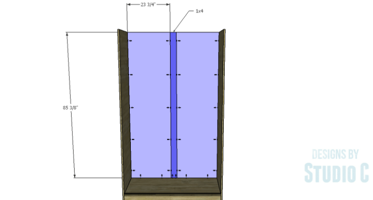 DIY Plans to Build a Sliding Door Pantry_Back
