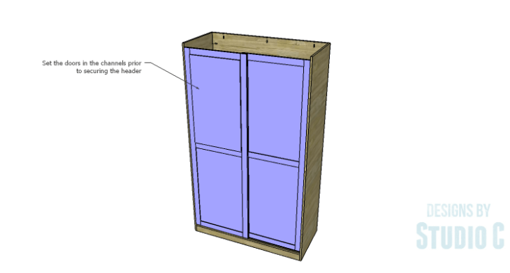 DIY Plans to Build a Sliding Door Pantry_Door 2
