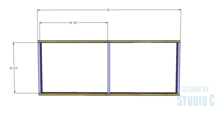 DIY Plans to Build a Sliding Door Pantry_Shelf Frames 1