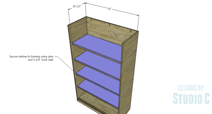 DIY Plans to Build a Sliding Door Pantry_Shelves
