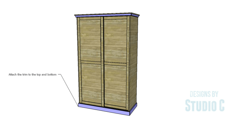 DIY Plans to Build a Sliding Door Pantry_Trim