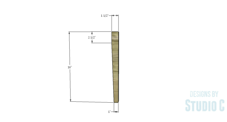 DIY Furniture Plans to Build an Anna Bench - Front Leg
