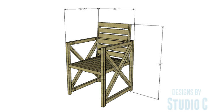 DIY Plans to Build an X Leg Chair