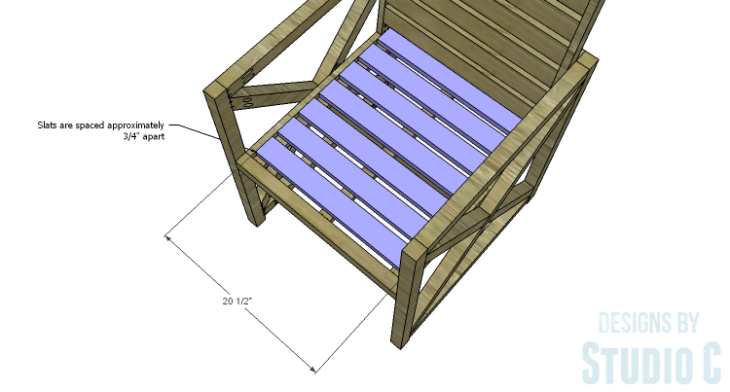DIY Plans to Build an X Leg Chair_Seat Slats