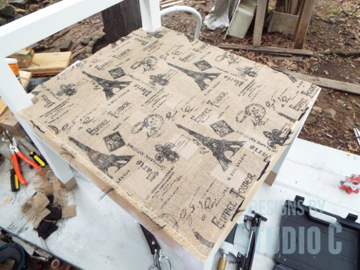 Add an Upholstered Seat to a Chair Plan_Burlap